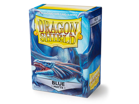 STANDARD SIZE, MATTE SLEEVE, BLUE, 100CT, DRAGON SHIELD