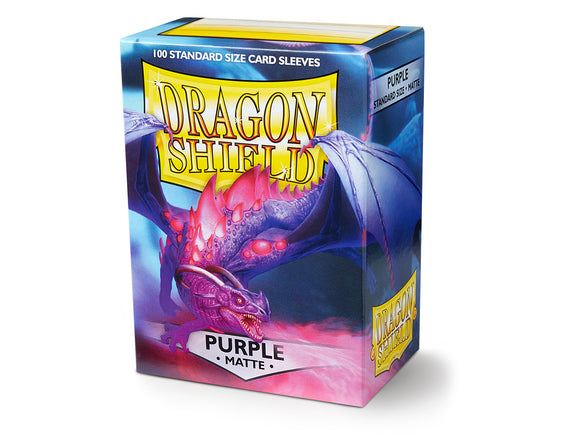 STANDARD SIZE, MATTE SLEEVE, PURPLE, 100CT, DRAGON SHIELD
