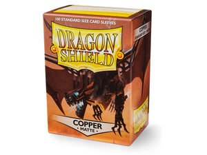 STANDARD SIZE, MATTE SLEEVE, COPPER, 100CT, DRAGON SHIELD