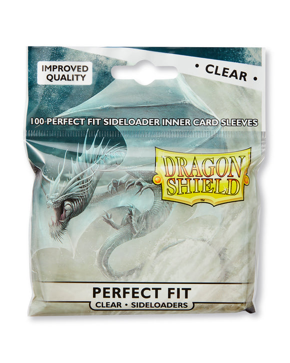 STANDARD SIZE, PERFECT FIT SLEEVE, CLEAR, SIDELOAD, 100CT, DRAGON SHIELD