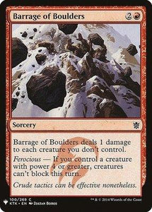 Magic: the Gathering Singles - Barrage of Boulders
