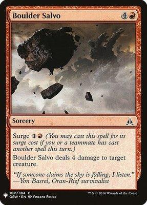 Magic: the Gathering Singles - Boulder Salvo
