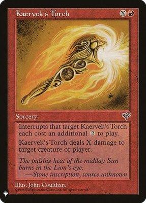 Magic: the Gathering Singles - Kaervek's Torch