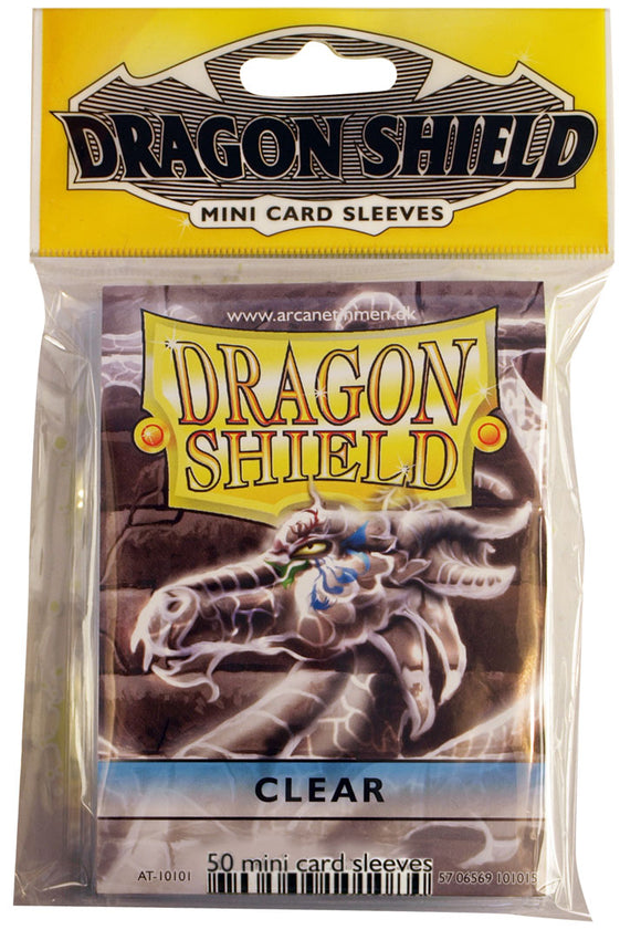 MINI SIZE, CLASSIC SLEEVE, CLEAR, 50CT, DRAGON SHIELD