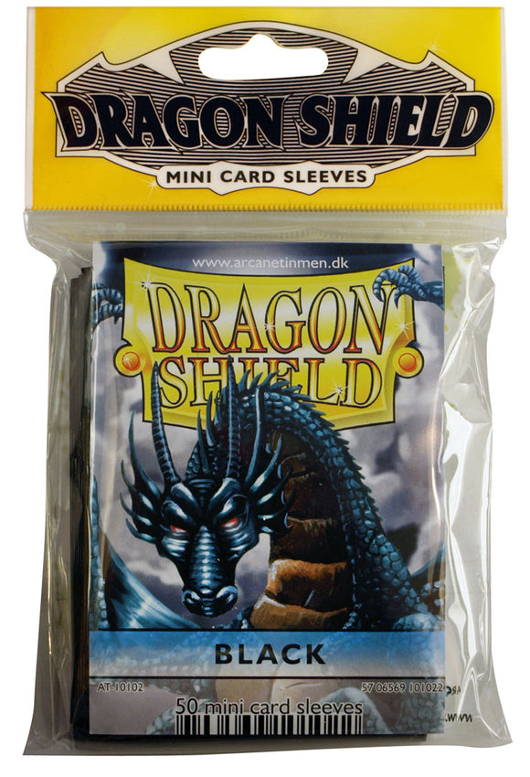 MINI SIZE, CLASSIC SLEEVE, BLACK, 50CT, DRAGON SHIELD