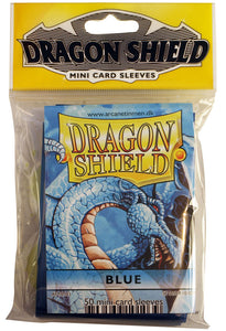 MINI SIZE, CLASSIC SLEEVE, BLUE, 50CT, DRAGON SHIELD