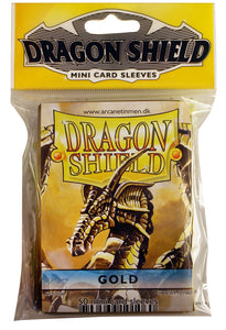 MINI SIZE, CLASSIC SLEEVE, GOLD, 50CT, DRAGON SHIELD