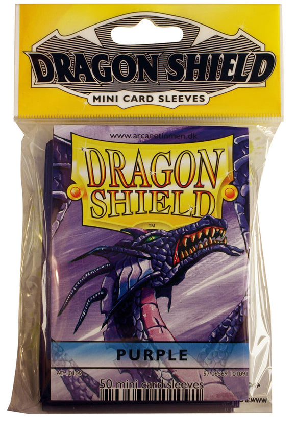 MINI SIZE, CLASSIC SLEEVE, PURPLE, 50CT, DRAGON SHIELD