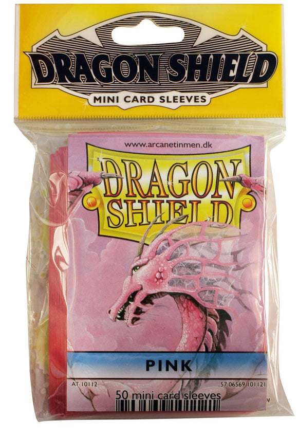 MINI SIZE, CLASSIC SLEEVE, PINK, 50CT, DRAGON SHIELD