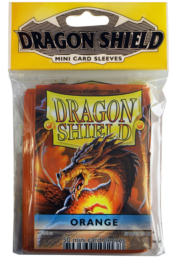 MINI SIZE, CLASSIC SLEEVE, ORANGE, 50CT, DRAGON SHIELD