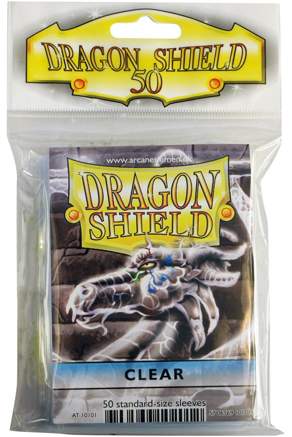 STANDARD SIZE, CLASSIC SLEEVE, CLEAR, 50CT, DRAGON SHIELD