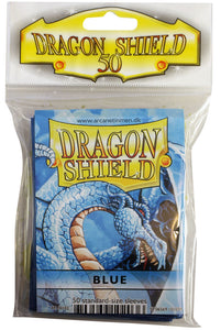 STANDARD SIZE, CLASSIC SLEEVE, BLUE, 50CT, DRAGON SHIELD