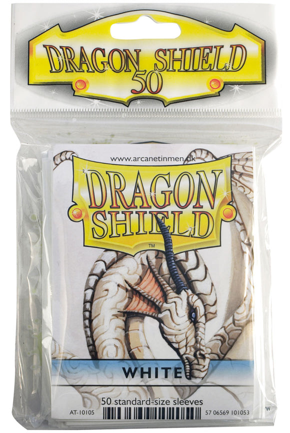 STANDARD SIZE, CLASSIC SLEEVE, WHITE, 50CT, DRAGON SHIELD