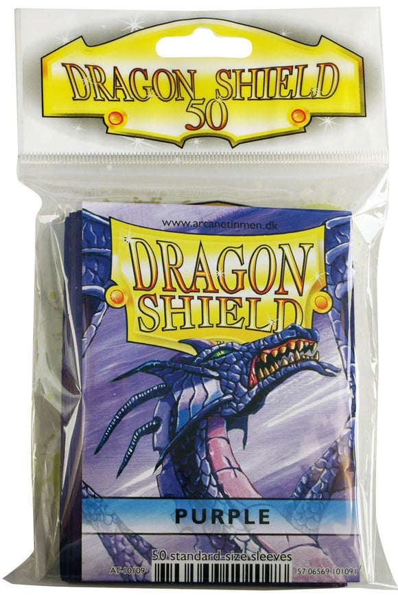 STANDARD SIZE, CLASSIC SLEEVE, PURPLE, 50CT, DRAGON SHIELD