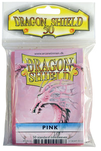 STANDARD SIZE, CLASSIC SLEEVE, PINK, 50CT, DRAGON SHIELD