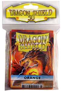 STANDARD SIZE, CLASSIC SLEEVE, ORANGE, 50CT, DRAGON SHIELD