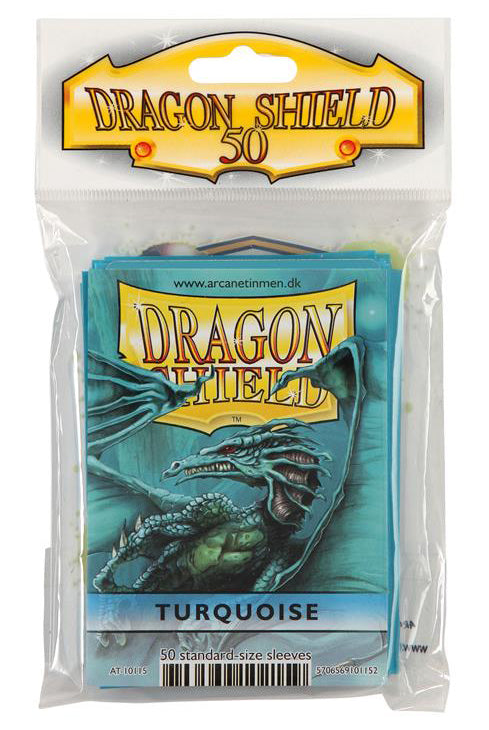STANDARD SIZE, CLASSIC SLEEVE, TURQUOISE, 50CT, DRAGON SHIELD