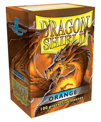 STANDARD SIZE, CLASSIC SLEEVE, ORANGE, 100CT, DRAGON SHIELD