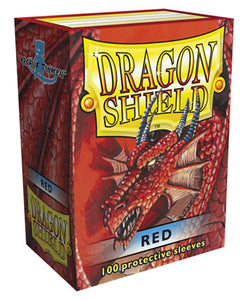 Standard Size, Classic Sleeve, Red, 100Ct, Dragon Shield