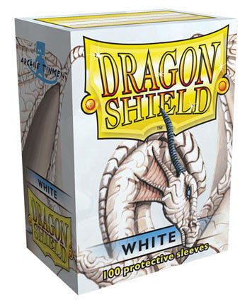 Standard Size, Classic Sleeve, White, 100Ct, Dragon Shield