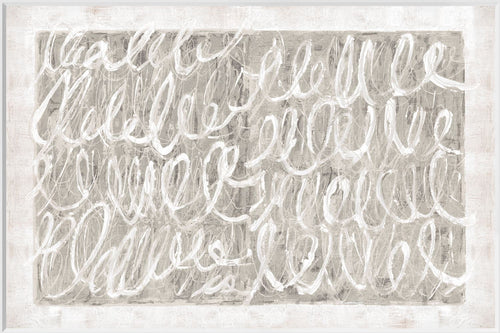 Twombly Script In Nattural - Framed