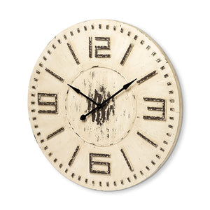 "Devonshire 42"" Round Oversized Farmhouse Wall Clock"