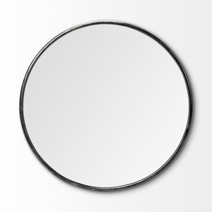 Piper Round Mirror Black