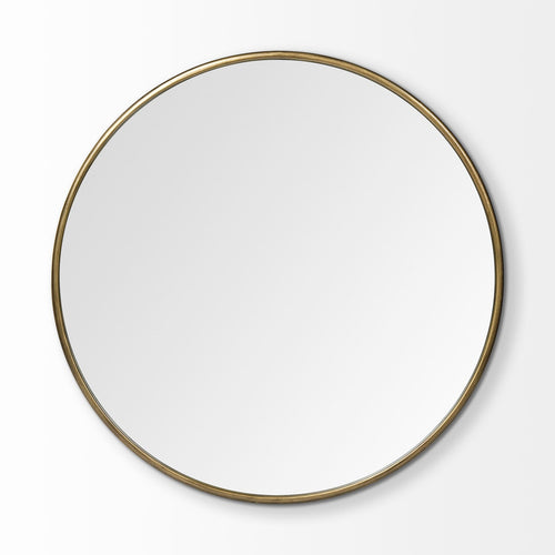 Piper Round Mirror Gold