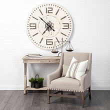"Load image into Gallery viewer, Devonshire 42"" Round Oversized Farmhouse Wall Clock"