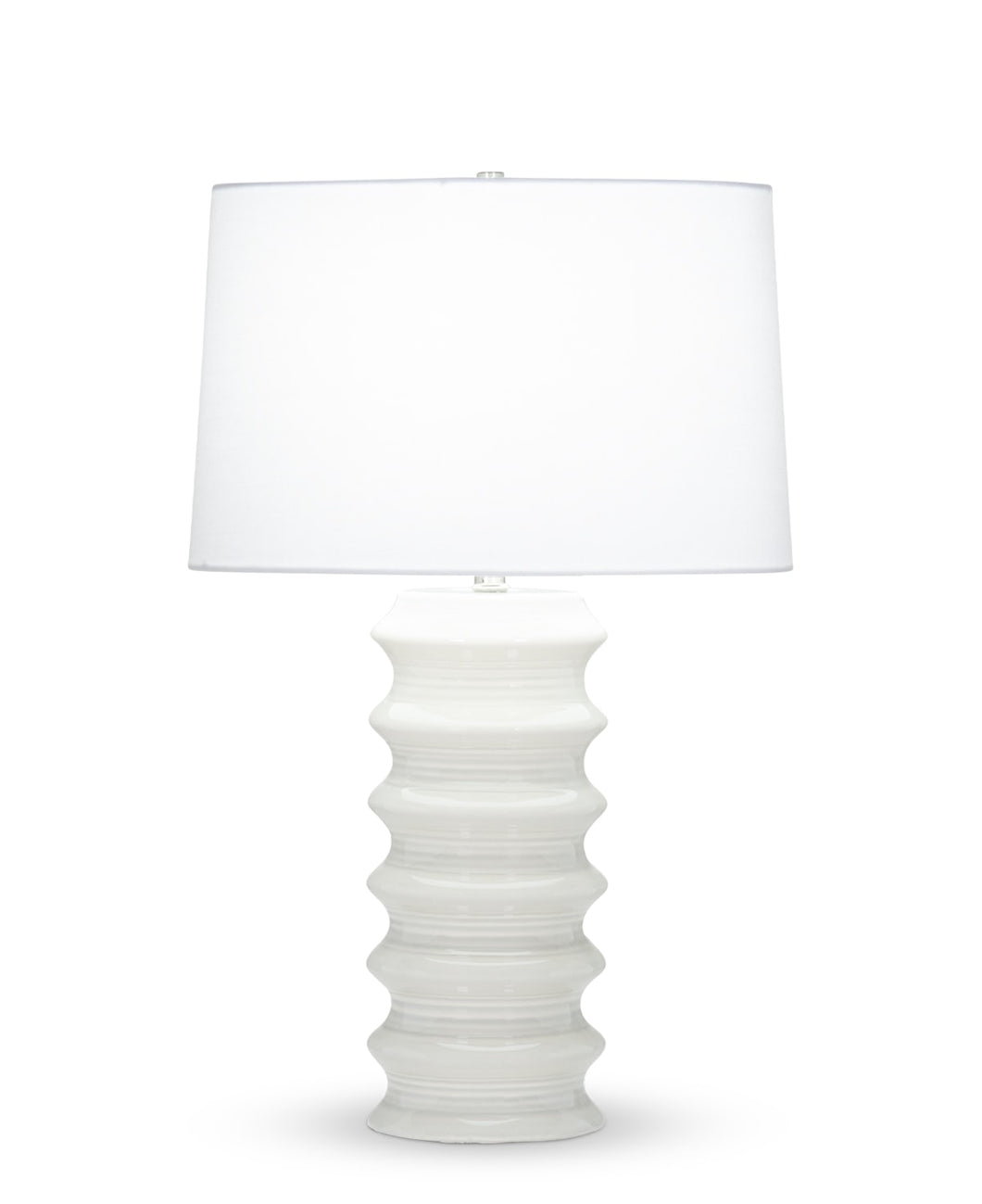Downey Table Lamp - White Linen Shade