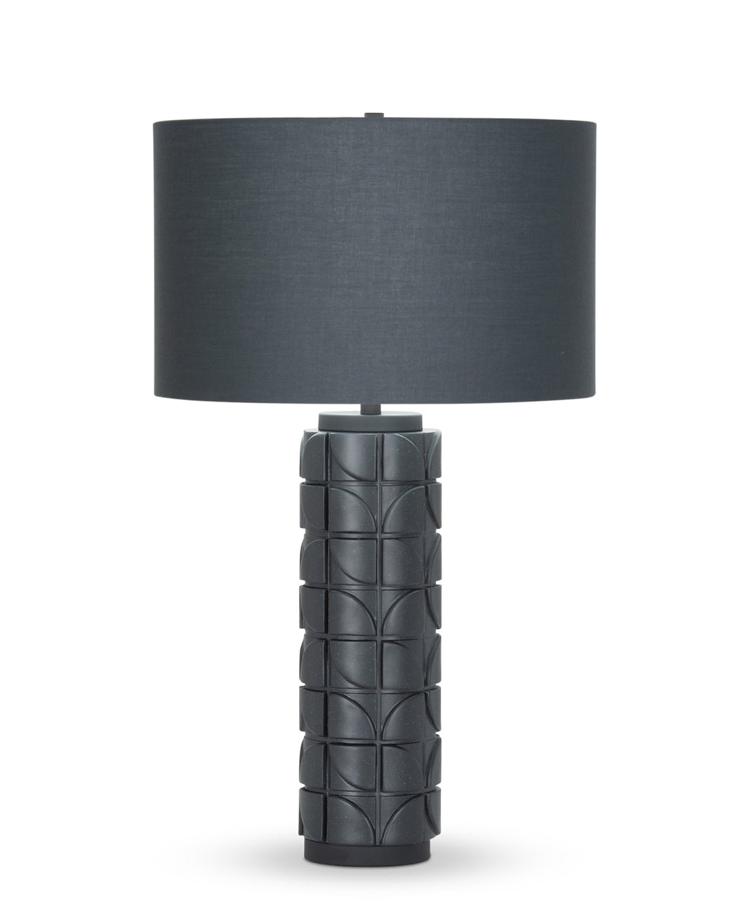 Mimi Table Lamp - Charcoal Grey Cotton Shade