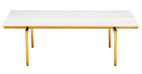 Louve Coffee Table - White Marble