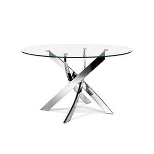 Ellis Dining Table - Round Chrome
