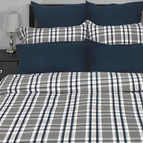 Simon Flannel Duvet and Shams - Queen