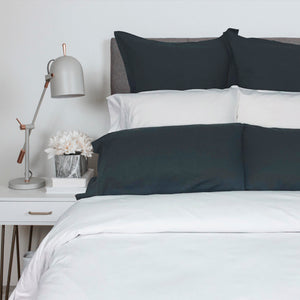 Velvet Flannel Duvet and Shams - Queen