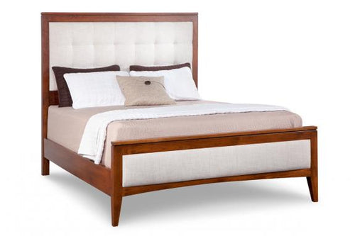Catalina Queen Uphostered Bed with Low Footboard