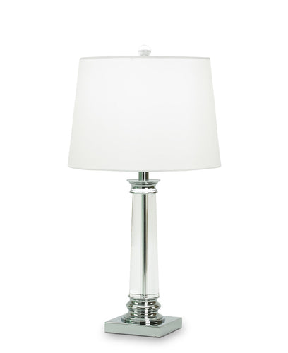 Coleford Table Lamp - White Linen Shade