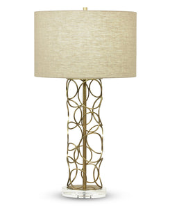 Pacific Table Lamp - Beige Linen Shade