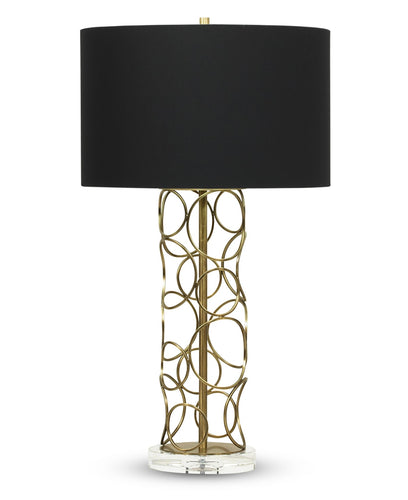 Pacific Table Lamp - Black Cotton Shade