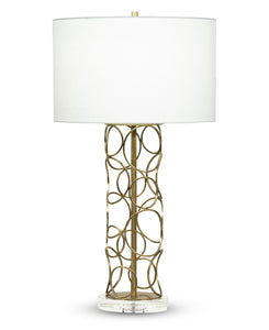 Pacific Table Lamp - Off-White Linen Shade