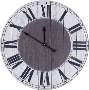 Numerals Wood Clock