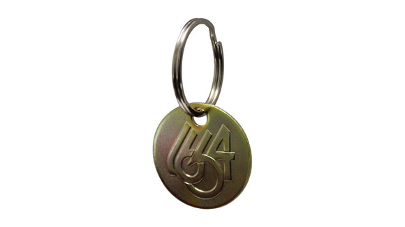 1664 BMX Key Chain - Gold Zinc