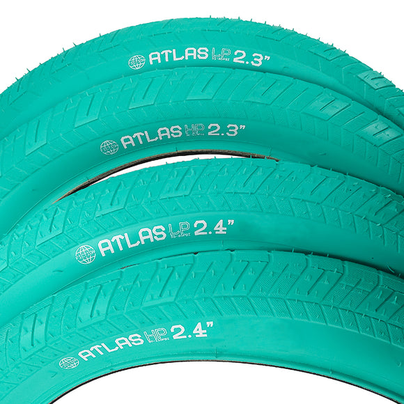 Fiction Bmx Atlas teal tires