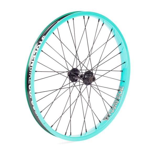 Teal Bmx Female front wheel