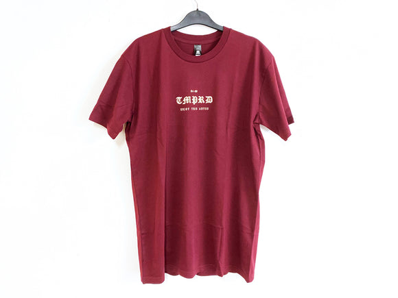 TEMPERED OLD ENGLISH TEE (MAROON)