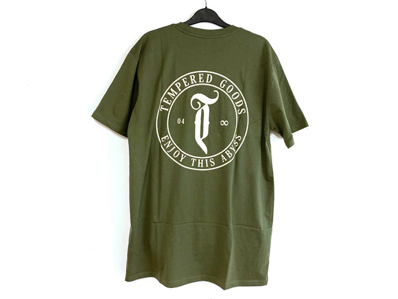 TEMPERED GOODS ABYSS LOGO TEE (OLIVE)
