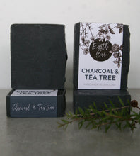 Load image into Gallery viewer, Charcoal and Tea Tree Face Antibacterial Cleanse Soap