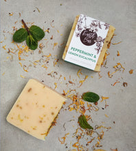 Load image into Gallery viewer, Peppermint and Lemon Myrtle Soap