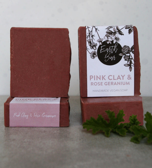 Pink Clay and Rose Geranium soap