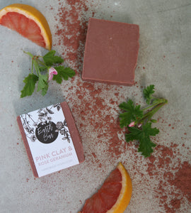 Pink Clay and Rose Geranium Face Cleanse Soap
